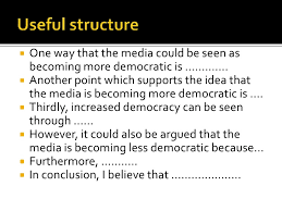 we media sample essay <br >another point which supports the idea that the media is becoming more democratic is