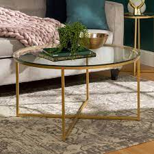 glass top 36 inch round coffee table