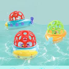 2018 baby bathing toy soft plastic cute submarine bath toys safe materials winding toys swim floating submarine fun newborn gift from phononame
