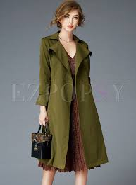 trench coats chic army green