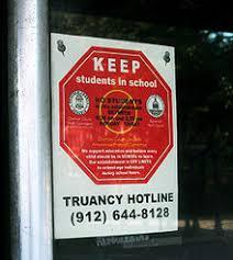 truancy  truancy hotline road sign in savannah us