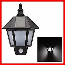 solar powered outdoor wall light with