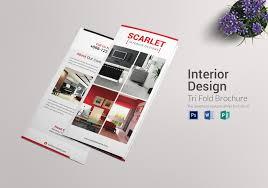 Design Brochure Template Trifold Interior Design Brochure Template