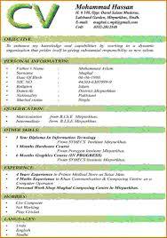 8 Most Recent Resume Format New Hope Stream Wood Curriculum Vitae