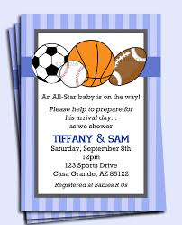 Sport Baby Shower Invitations  Baby Shower DIYBaby Shower Invitations Sports Theme