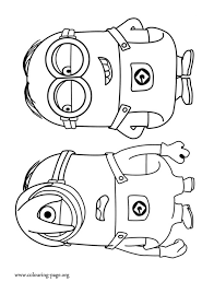 Small Picture Despicable Me The Minions Stuart and Dave coloring page