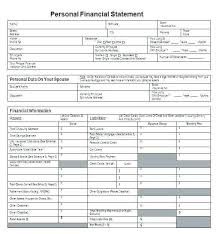 Personal Assets And Liabilities Statement Template Asset And Liability Statement Template Personal Assets Liabilities
