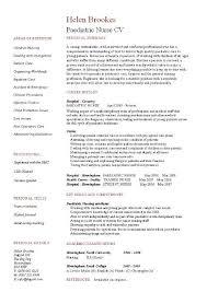Nurse Resume Template Magnificent Paediatric Nurse CV Template