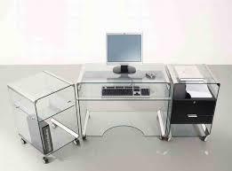 modern home office desk glass