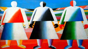 kazimir malevich s in the field 1932 photo replica from the wikia org the outstanding avant garde artist