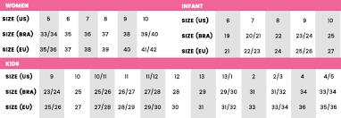 Zaxy Size Chart Forest Baby Flat Zaxyusa