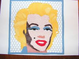 Free Marilyn Monroe Embroidery Designs Imitation Of Andy Warhols Marilyn Monroe Idrija Lace