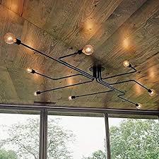lighting fixtures industrial. RUXUE Retro Wall Mount Ceiling Light 8 Heads Metal Industrial Lighting Fixtures Without Bulbs U