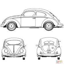 Volkswagen Kever 1952 Kleurplaat Gratis Kleurplaten Printen Idee