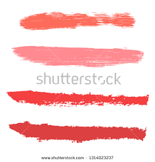 beauty and cosmetics brush strokes vector background y lines collection makeup swatches set