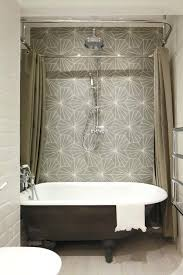 shower curtains vs shower doors industrial bathroom by burns pictures of shower curtains over glass doors