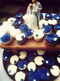 Navy Blue And White Wedding Cupcakes Back Yard Wedding Ideas For