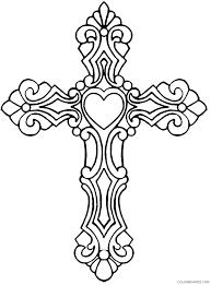 Printable cross coloring page ornate. Printable Cross Coloring Pages For Adults Coloring4free Coloring4free Com