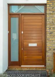 dark wood contemporary front door and