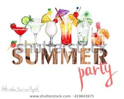 summer party clipart. Fine Summer Watercolor Summer Clipart  Party Inside E