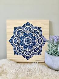 >wood wall art mandala painting navy blue mandala blue mandala art  wood wall art mandala painting navy blue mandala blue mandala art mandala