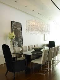 rectangle crystal chandelier dining room design lighting