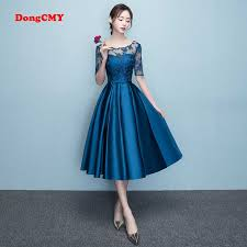 DongCMY <b>New Arrival 2019</b> Short bule Color Prom dress <b>Elegant</b> ...
