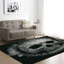 Demissir 3d Schädel Drucken Große Teppich Für Wohnzimmer Rutschfeste