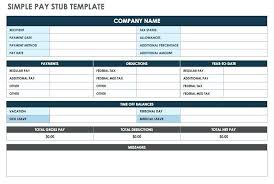Payroll Pay Stub Template Free Free Payroll Check Stub Template Download Pay Excel Sample