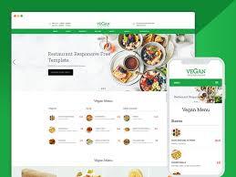 Website Design Template Interesting Vegan Beautiful Restaurant Website Design Psd Free Ease Template
