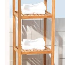 spa towel storage. 2 Of 3 Bathroom Towel Shelf Storage Bamboo 5 Tier Shelves Spa Furniture Narrow Holder