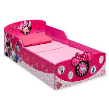 Minnie Mouse Bedroom Furniture Delta Children Minnie Mouse Toddler Bed Reviews Wayfair