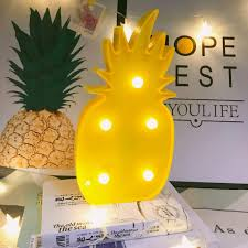 Pineapple Decor Lightlight Up 3d Tropical Pineapple Led Lampromantic Night Table Lamp Holiday Home Christmas Party Table Decorationslight Decor For