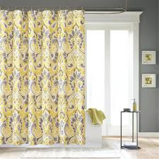 Yellow Fabric Shower Curtain Discountant Net
