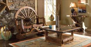 Rustic Log Cabin Furniture Teak Wood Green Furniture