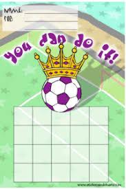 Soccer Charts Free Printable Behavior Chore Or Reward Charts