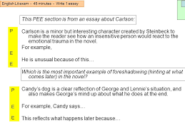 english lit exam minutes write essay ppt video online this pee section is from an essay about carlson
