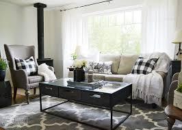style living room furniture cottage. A Black And White Rustic Cottage Farmhouse Living Room Style Furniture