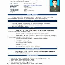 Resume Format For Word Resume Templates Format Word Free Download Models In For Freshers 5
