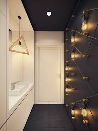 unusual bathroom lighting. exellent unusual designed by the polish creative agency plasterlina this warsaw apartment  takes an innovative approach to intended unusual bathroom lighting