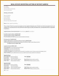 Letter Of Intent Real Estate Letter Of Intent Real Estate Letter Format Template 19