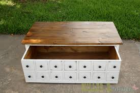 diy this coffee table with a hidden storage toy box trundle free easy step by step plans from ana whitecom ana white build diy apothecary style