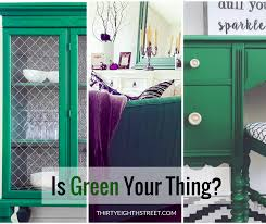 painted green furniture. Green Furniture, Desk, Hutch, Mirror, Chalk Paint, Milk Painted Furniture A