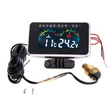 flently 12V/24V Car LCD Water Temperature Meter 2 ... - Amazon.com
