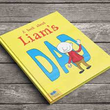 a funny book all about their brilliant dad personalised