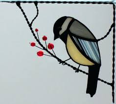 stain glass birds stained corners corner window and on a wire panel stain glass birds