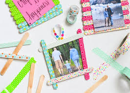 how to make washi tape craft stick frames