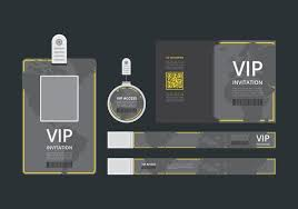 Vip Pass Id Card Template. Vip Pass For Event Template. Flat Blank ...