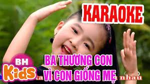 KARAOKE] Cả Nhà Thương Nhau | Nhạc Thiếu Nhi Karaoke cho bé - YouTube