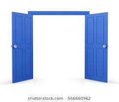 open double doors.  Double Blue Double Door Open On White Background 3d Rendering With Open Double Doors P
